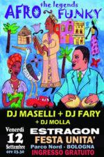 Afro Funky Remember Story con Dj Maselli, Dj Fary, Dj Molla all'estragon, Parco Nord, Bologna