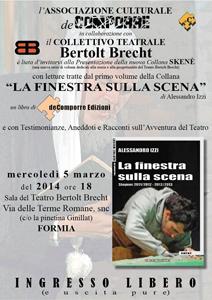 Alessandro Izzi e la finestra sulla scena al Teatro Bertolt Brecht