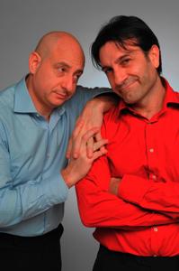 Andrea Bove ed Enzo Limardi in Non ce la faccio piu' al Teatro Brancaccino di Roma