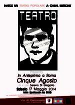 Cinque agosto, lo spettacolo di e con Serena Di Gregorio in scena al Teatro Bi.Pop. Zaccaria Verucci di Roma