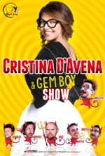 Cristina d'Avena e Gem Boy Show sul palco dell'Estragon di Bologna