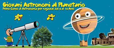 Giovani astronomi al Planetario. Al via i corsi