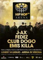 Hip Hop Tv Arena. Per la prima volta l'hip hop conquista l'Arena! Per la prima volta 4 rapper su un palco con Orchestra Sinfonica!