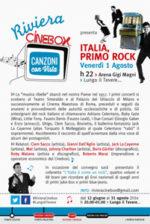 Italia, primo rock. L'Italia è come un rock. Appuntamento a Roma presso L'Arena Gigi Magni per la manifestazione Lungo il Tevere