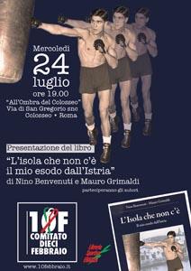 L'Isola che non c'è, il libro di Nino Benvenuti e Mauro Grimaldi