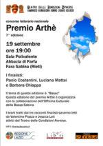 L'Officina Culturale della Bassa Sabina collabora al Premio Arthè