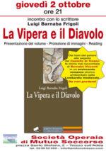 La Vipera e il Diavolo, il romanzo di Luigi Barnaba Frigoli. La presentazione a Trezzo sull'Adda