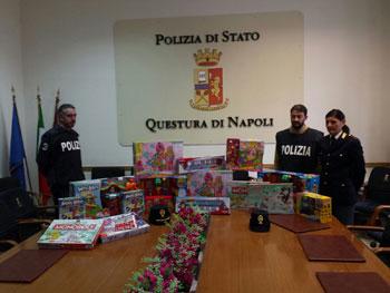 La Polizia regala giocattoli all'Azienda Ospedaliera Pediatrica Santobono Pausilipon