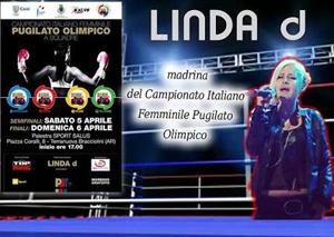 Linda D, madrina del Campionato Italiano Femminile di pugilato olimpico. Musica e sport, un connubbio perfetto contro la violenza sulle donne