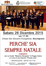 """Concerto di Natale """"perchè sia sempre Natale"""""""