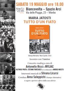 Tutto d'un fiato, il libro di Maria Jatosti