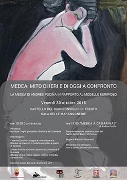 Medea a Camarinas, lo spettacolo riportato in scena dal Teatro Bertolt Brecht al Castello del Buonconsiglio a Trento