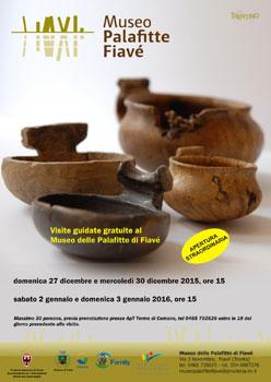 Visite guidate gratuite al Museo delle Palafitte di Fiavè