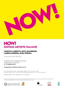 NOW! Giovani Artiste Italiane, la mostra in calendario nell'Ex Refettorio del Complesso San Paolo a Ferrara