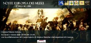 Notte europea dei Musei, Notte dei Musei  fra suoni e visioni a Palazzo Arnone di Cosenza