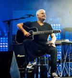 Pino Daniele in concerto alla manifestazione estiva Festambiente a Rispescia in provincia di Grosseto