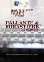 Pallante  in concerto a Villa d'Este a Tivoli con Pino Forastiere