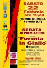 Premiazione del concorso letterario Formia in giallo alla Torre di Mola