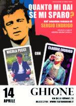 Quanto mi dai se mi sparo? Lo spettacolo con Nicola Pecci e Claudia Endrigo in scena al Teatro Ghione di Roma