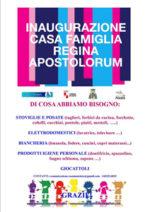 Regina Apostolorum di Gaeta, inaugurazione della casa famiglia