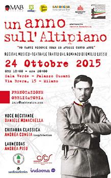 Un anno sull'Altipiano. Recital musico-teatrale tratto dal romanzo di Emilio Lussu