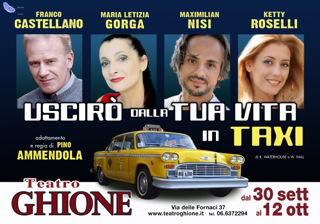Uscirò dalla tua vita in taxi, lo spettacolo segnalato nel calendario del Teatro Ghione di Roma