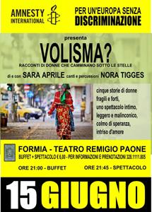 Volisma, lo spettacolo promosso da Amnesty International contro la discriminazione al Teatro Remigio Paone