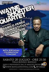 Wayne Shorter Quartet approda a Ravello al Ravello Festival