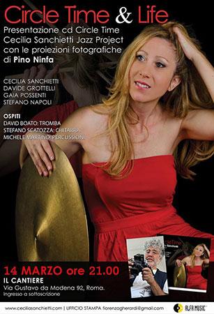 Cecilia Sanchietti con il fotografo Pino Ninfa per Circle Time & Life