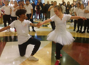 Roma, un flash mob per la disabilità