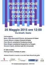 Casa Famiglia Immacolata Concezione, Gruppo Appartamento Amalfi, l'inaugurazione
