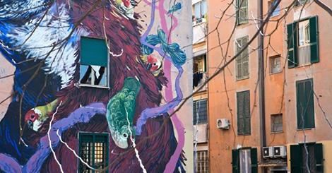 San Basilio cambia volto con SanBa, il gran finale tra street art e musica per presentare le sei facciate dipinte da Hitnes
