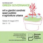 Biennale dello Spazio Pubblico 2015. Workshop: Green governance: orti e giardini condivisi, spazi pubblici e agricoltura urbana. Appuntamento a Roma