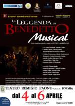 La leggenda di Benedetto. L'appuntamento della settimana del musical del Teatro Remigio Paone di Formia