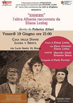 ESSERE, l'altra Albania di Eliana Leshaj, lo spettacolo all'interno della manifestazione Le Arti si sFogliano