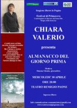 Chiara Valerio presenta il suo ultimo libro L'almanacco del giorno prima al Festival di Primavera