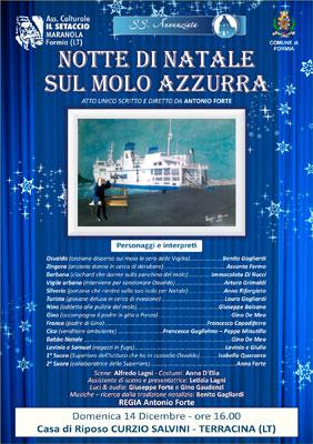 Natale sulla panchina del Molo Azzurra al Teatro alla casa di riposo Curzio Salvini