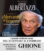 Il Mercante di Venezia con Giorgio Albertazzi in scena al Teatro Ghione di Roma