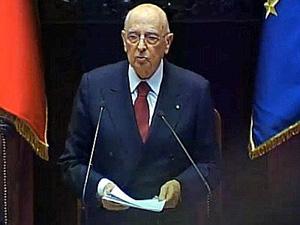Giorgio Napolitano, il discorso del suo secondo mandato