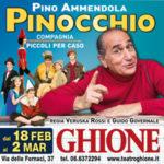 Pinocchio, lo spettacolo con Pino Ammendola al Teatro Ghione di Roma