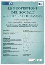 Le professioni del sociale nell'Italia che cambia. Seminari formativi gratuiti per assistenti sociali