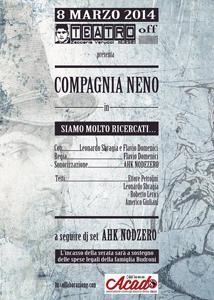 Siamo molto ricercati, lo spettacolo in ricordo di Dino Budroni Teatro Zaccaria Verucci