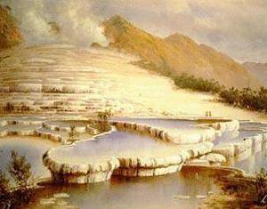 Le terrazze bianche e rosa, le vasche di acqua calda più grandi al mondo