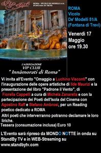 Al Vip Club Innamorati di Roma omaggio a Luchino Visconti