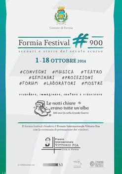 Formia Festival #900 e Premio Internazionale Vittorio Foa – Città di Formia, al via la campagna volontari