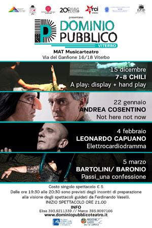 Elettrocardiodramma, lo spettacolo di e con Leonardo Capuano in scena a Viterbo