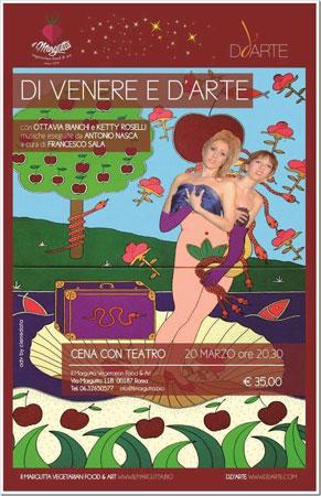 Via Margutta si tingerà di rosa con la cena teatrale Di Venere e d'Arte
