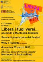 Libera i tuoi versi…poetando a Montopoli, la premiazione