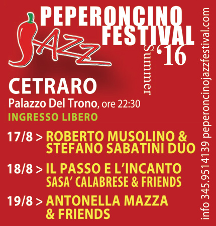 Cetraro Jazz, al via una tre giorni a Palazzo del Trono