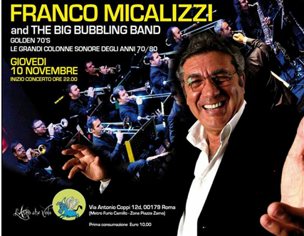 Franco Micalizzi & The Big Bubbling Band a L'asino che Vola